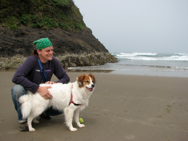 Neskowin Beach has rock formations to explore and is sheltered from the wind.