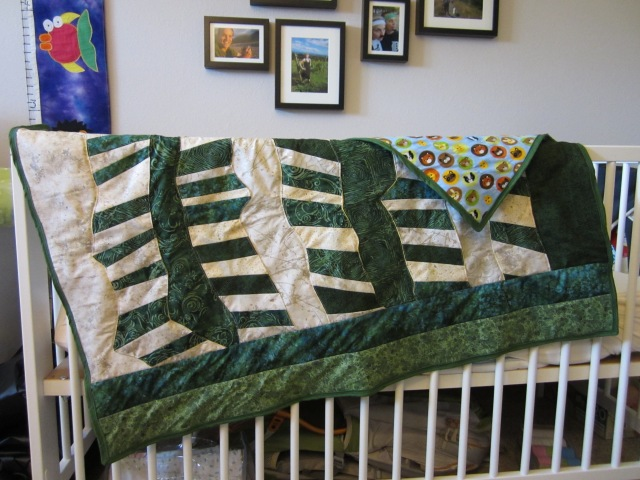 Shannon's nursery has a Montana theme, so I wanted the quilt to look organic and woodsy.