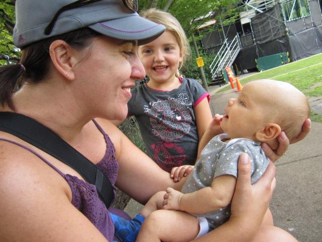 Carisa and Mia entertain Edith, and vice versa.
