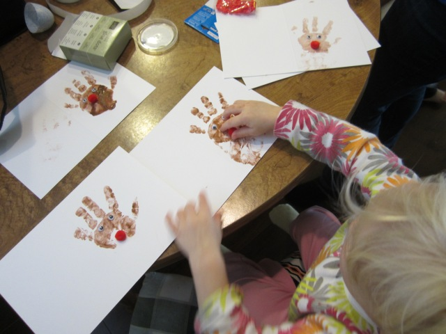 Reindeer Handprint Cards - Ten Thousand Hour Mama