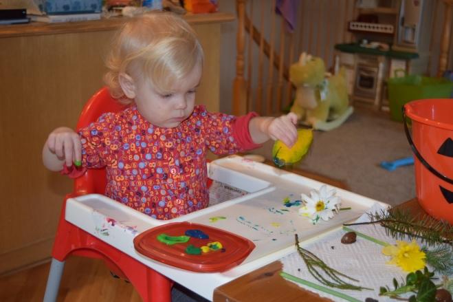 Toddler Nature Painting - ten Thousand Hour Mama