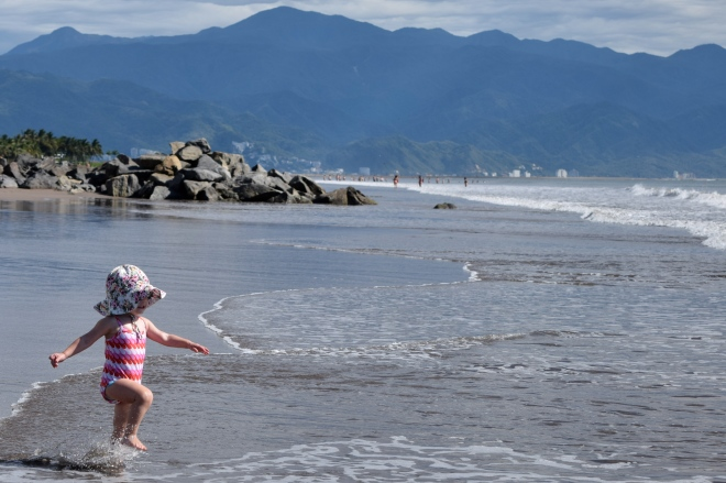 Puerto Vallarta beach toddler - Ten Thousand Hour Mama