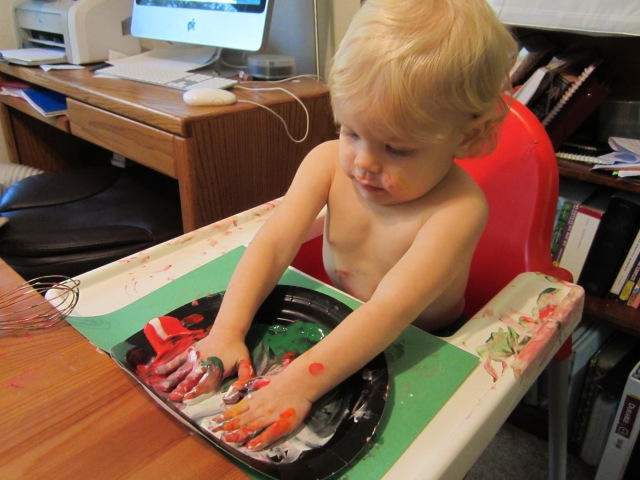 Toddler painting - Ten Thousand Hour Mama