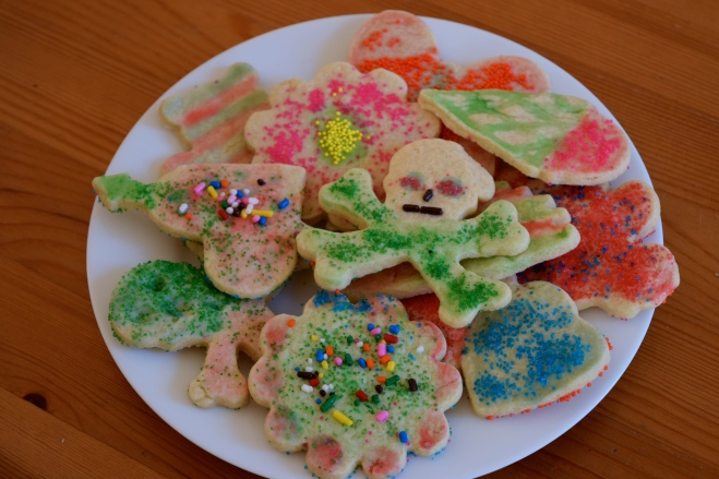Sugar cookies no frosting decorations