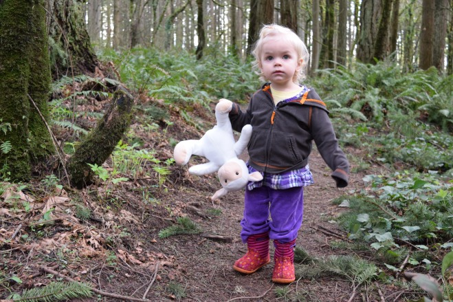 Sheep lovey toddler hike