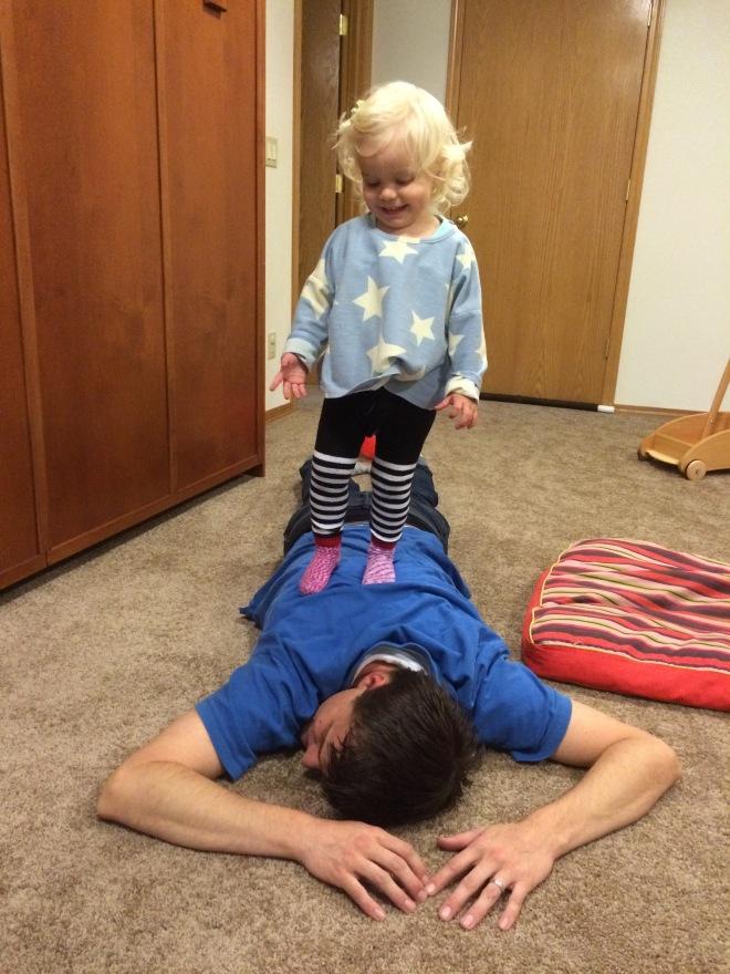 Toddler roughhousing