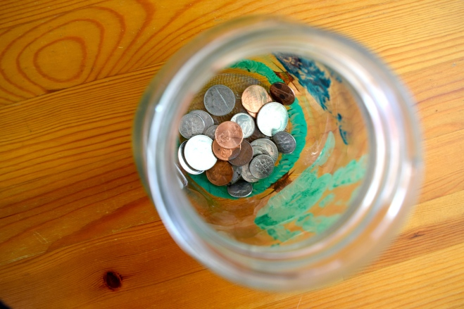 Watch your Money Grow Change Jar
