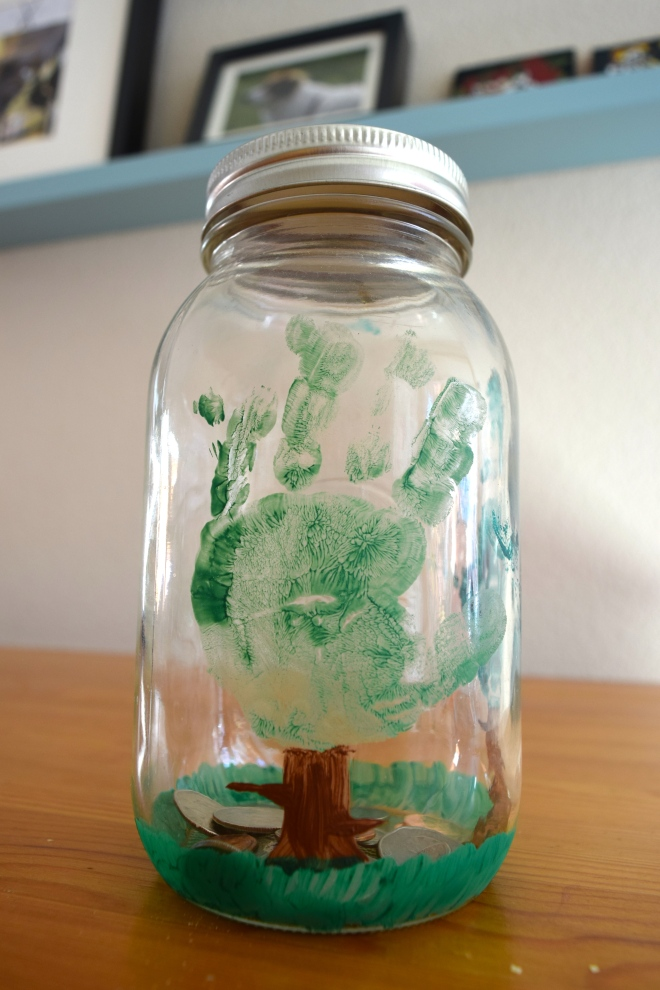 Handmade Change Jar Watch Your Savings Grow Tutorial