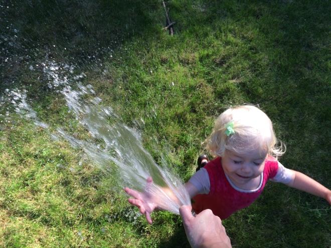 Water the garden toddler