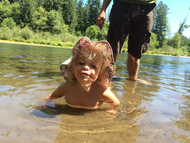 Swimming in the Clackamas River