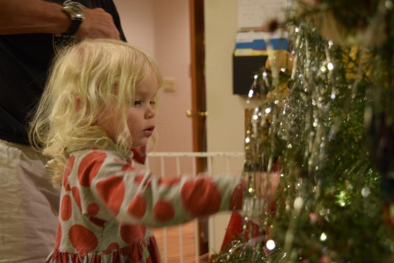 Tinsel Christmas tree - Ten Thousand Hour Mama