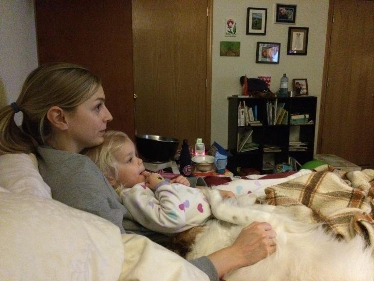 Toddler movie night sleepover